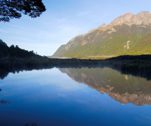 Visit the Mirror Lakes in Fiordland